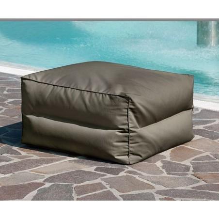 Pouff Elios quadrato Outdoor e Indoor in tessuto tecnico Sling
