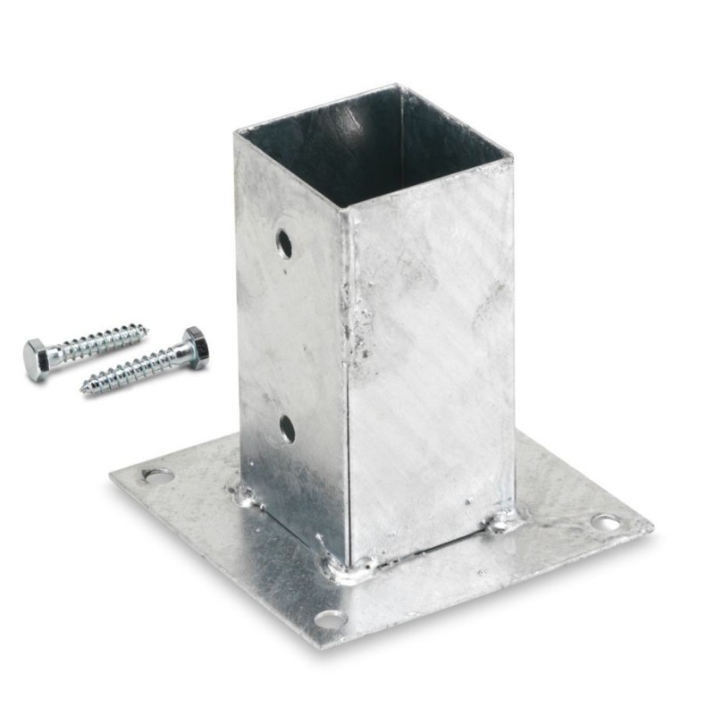Portapilastri  quadrati zincati a caldo  cm 91x91x150