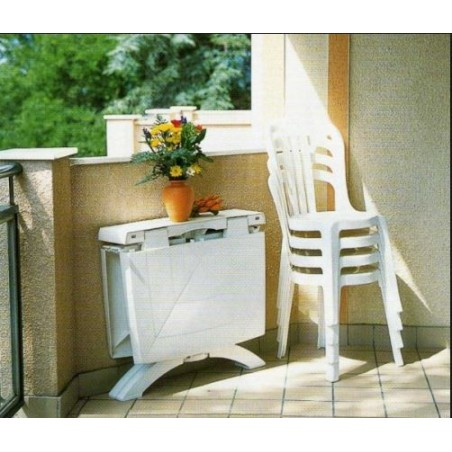 Tavolo Vega ribaltabile Grosfillex bianco