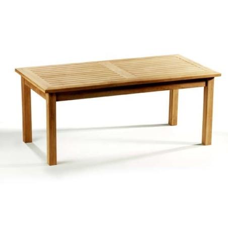 Tavolinetto in teak da caffè cm 90x50xH45 Tanjaya