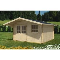 Casetta in legno mm 44 - 390x300 Gotland 3 E in abete naturale in promozione