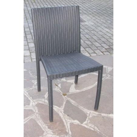 Sedia impilabile Virgo Tanjaya in alluminio e fibra sintetica