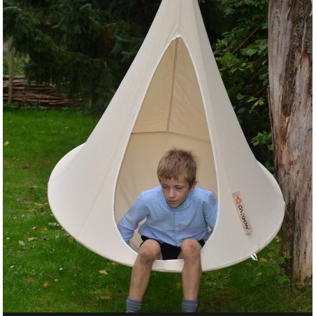 Tenda amaca sospesa Cacoom Bonsai per bambini diametro 120x150H colore white