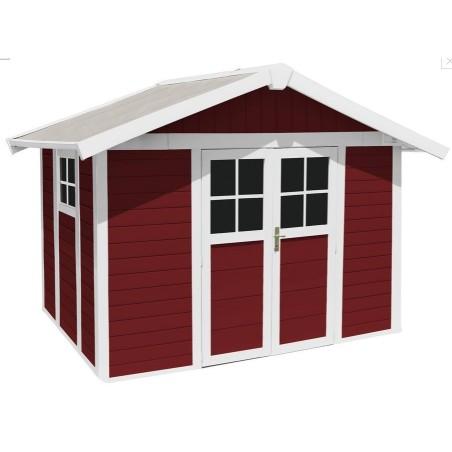 Casetta in resina da giardino Decò  7.5 Grosfillex Red cm 315x 239