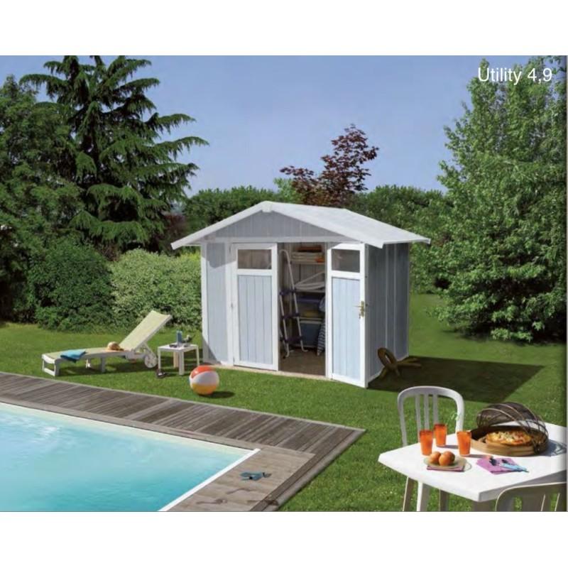 Casetta in resina da giardino utility 5 grosfillex cm 242x202 - Casette da giardino in resina ...